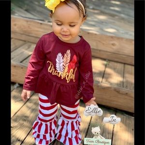 Other - 🍁Toddler Thanksgiving Top & Ruffle Bottom12M 2T